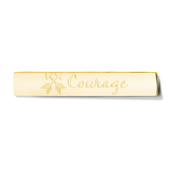 Bar - Courage - Gold toned