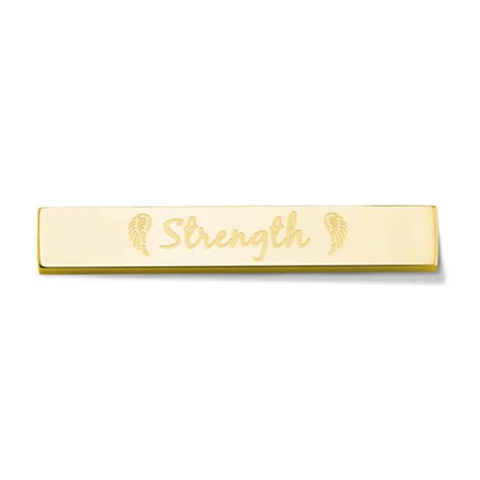 Bar - Strength - Gold toned