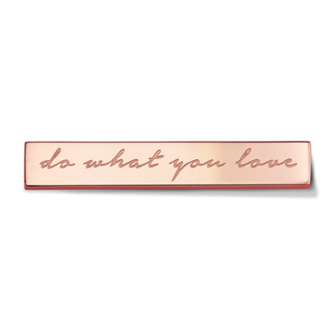Bar - Do what you love - Rosegold toned