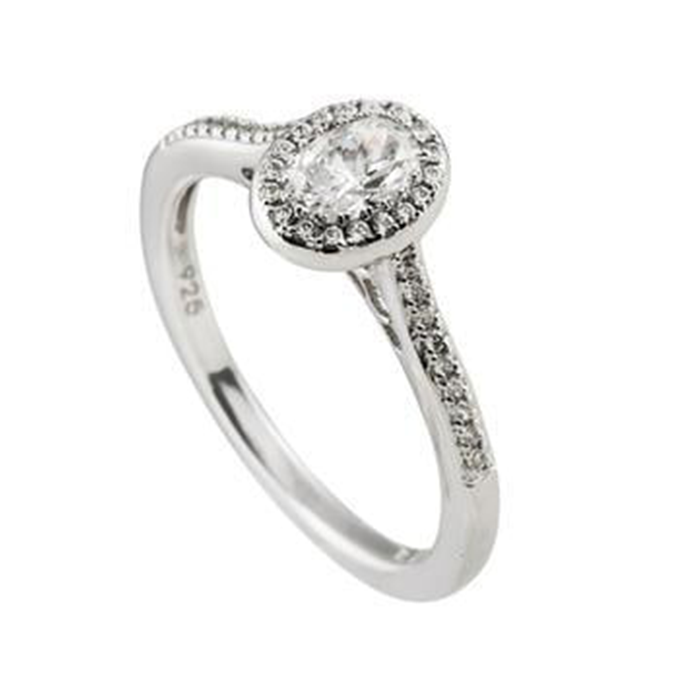Diamonfire zilveren entourage ring