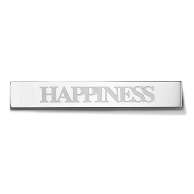Bar - Happiness - Silver toned