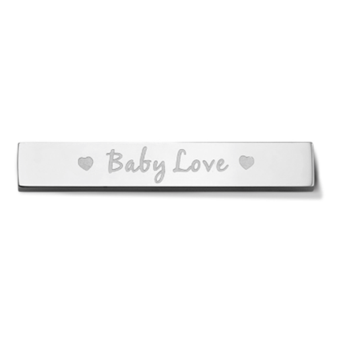 Bar - Baby love - Silver toned