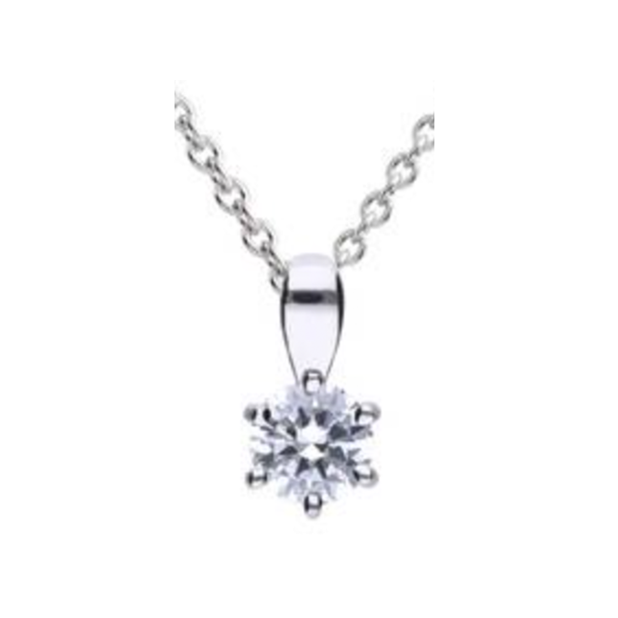 Diamonfire zilveren collier 0,50crt