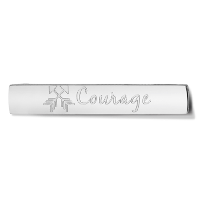 Bar - Courage - Silver toned