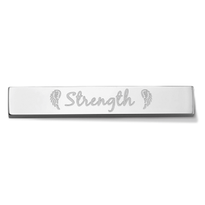 Bar - Strength - Silver toned
