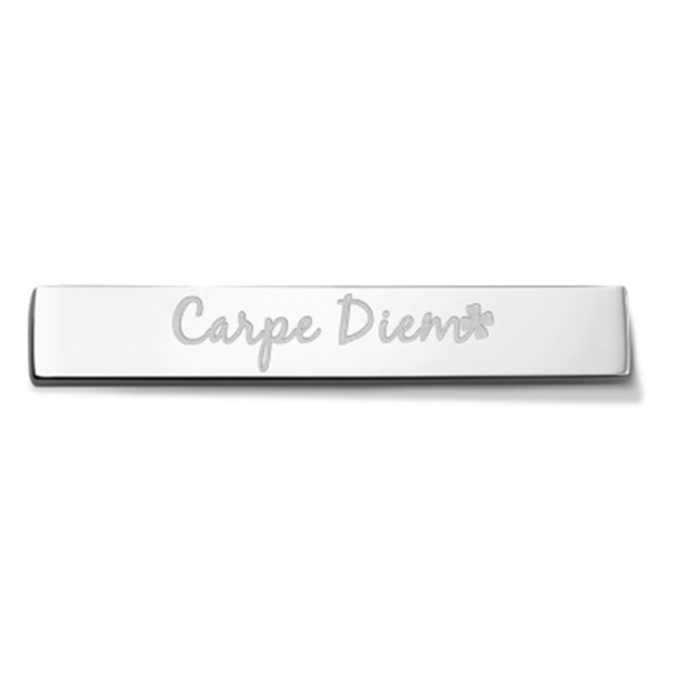 Bar - Carpe diem - Silver toned