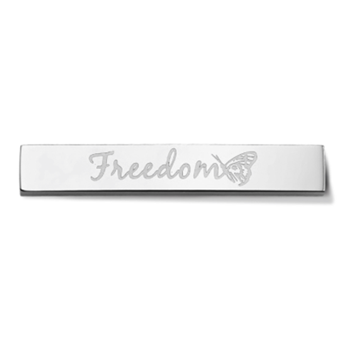 Bar - Freedom - Silver toned