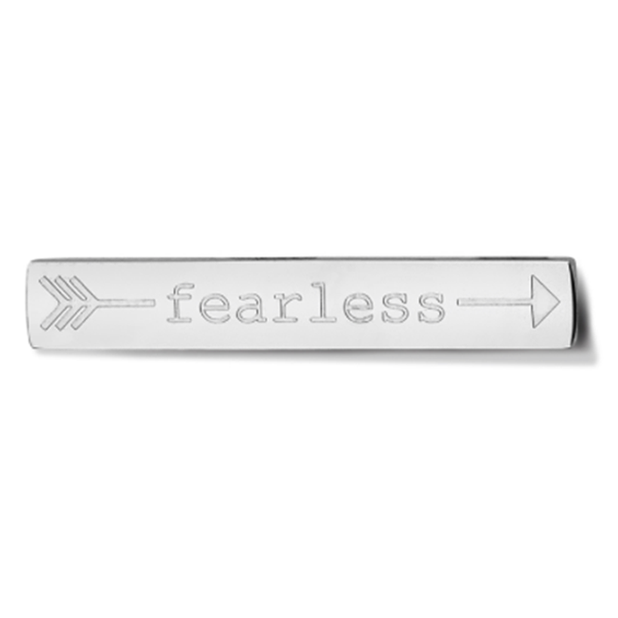 Bar - Fearless - Silver toned