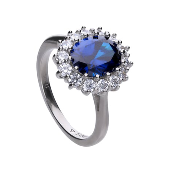 Diamonfire zilveren ring, Royal Colors collectie