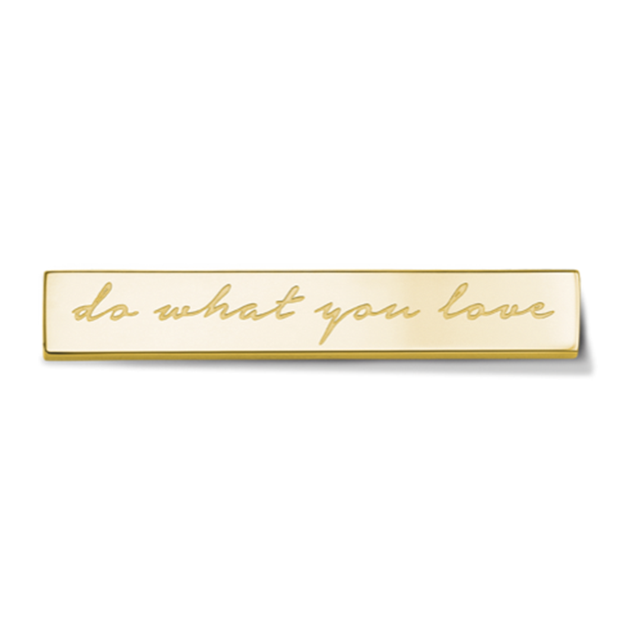 Bar - Do what you love - Gold toned