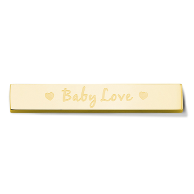 Bar - Baby love - Gold toned