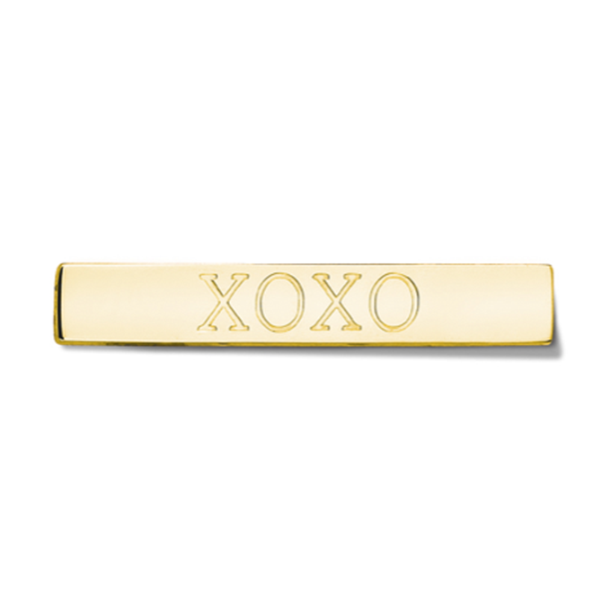Bar - XOXO - Gold toned