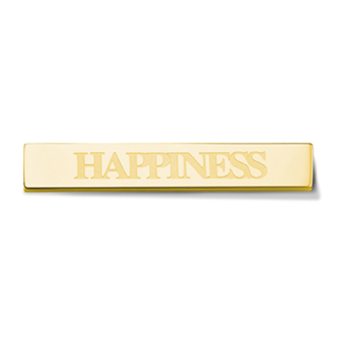 Bar - Happiness - Gold toned