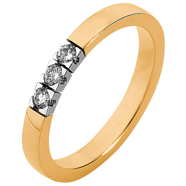 Fairtrade ring met diamanten